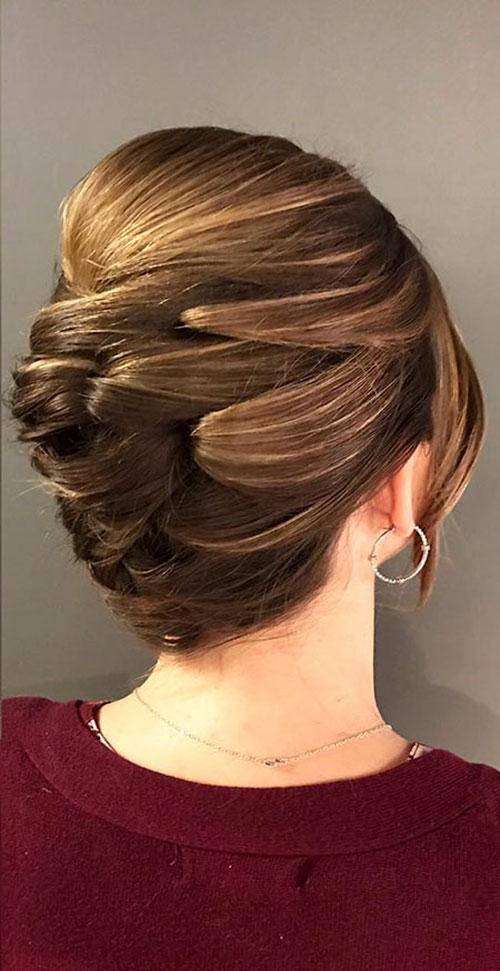 Medium Hair Updo Hairstyle