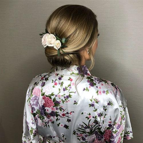 Wedding Hairstyle For Medium Long Hair Elegant Updo