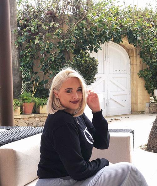Medium Length Platinum Blonde Hair
