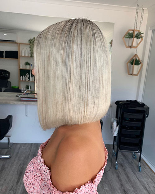 Platinum Medium Hairstyles