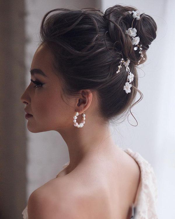 Medium Bun Hairstyle For Women