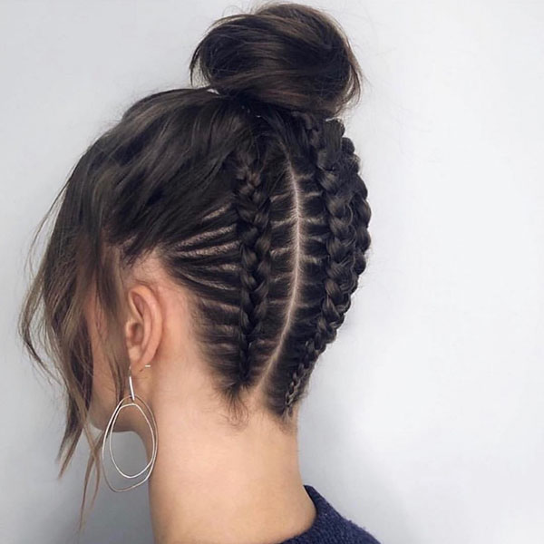 Pictures Of Bun Styles For Medium Hair