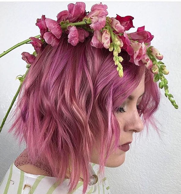 Pink Hair Color For Medium Hair