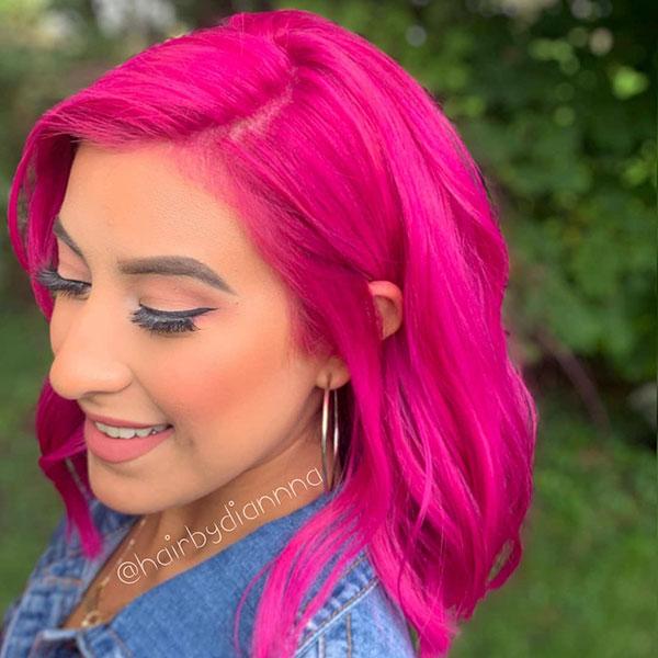 Women With Medium Pink Hair