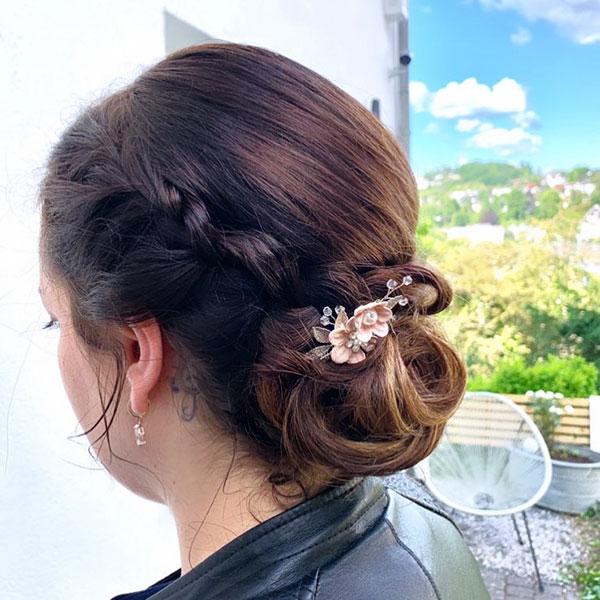 Pictures Of Medium Bun Hairstyles