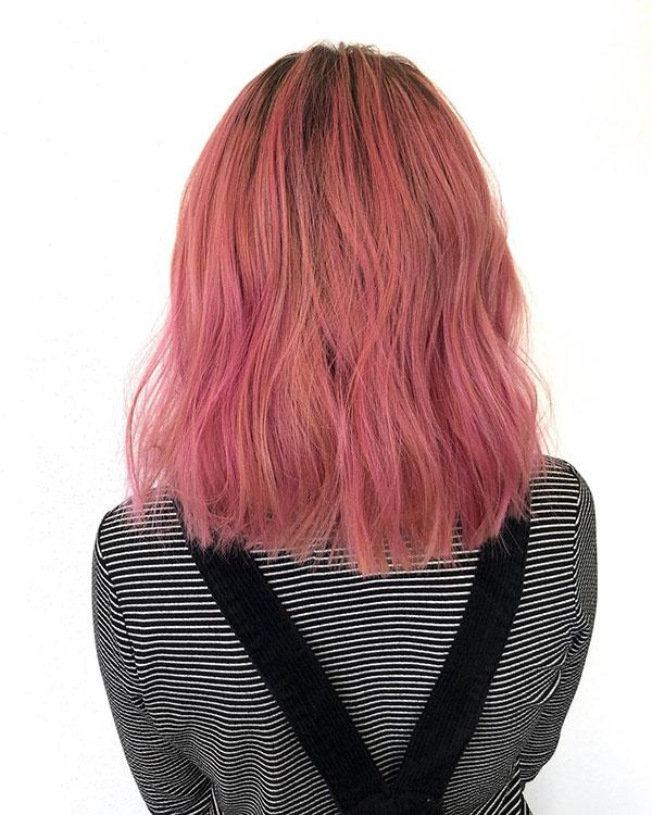 Pink Medium Hair