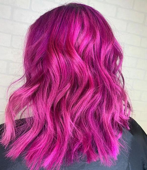 Medium Pink Hairstyles 2020
