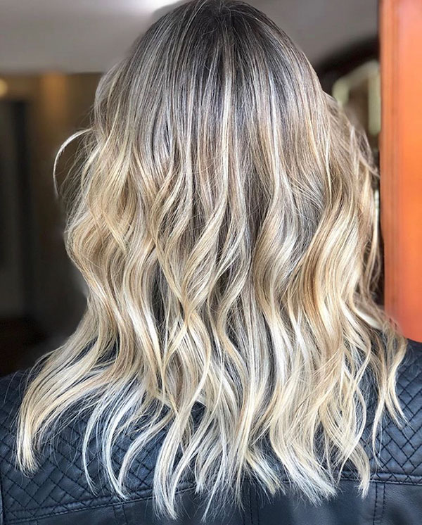 Medium Haircuts With Balayage