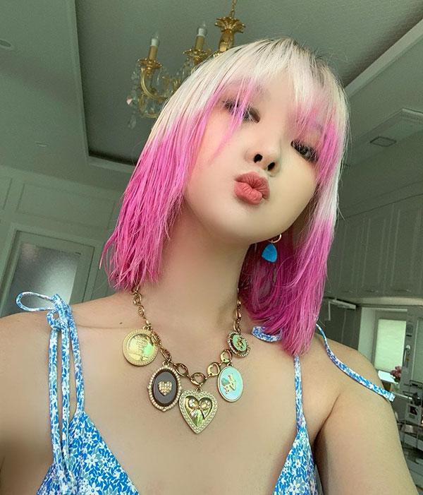 Medium Pink Hair