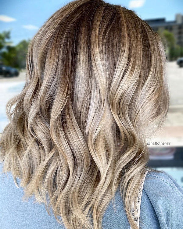 Balayage In Medium Hair