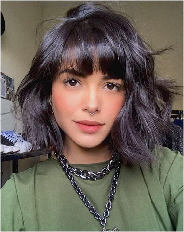 Cute Medium Hairstyles With Bangs 2021