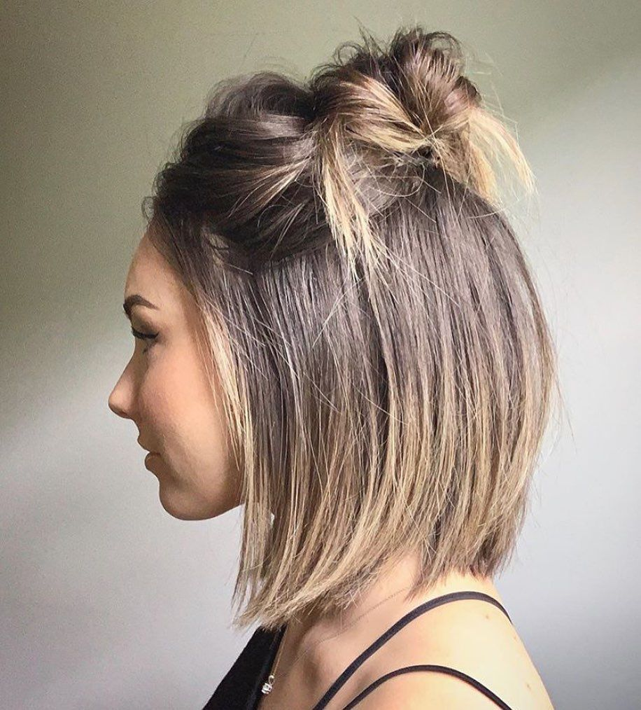 Medium Hair And Half Up Hairstyles