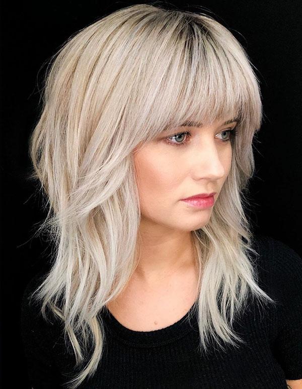 Cute Medium Haircuts With Bangs