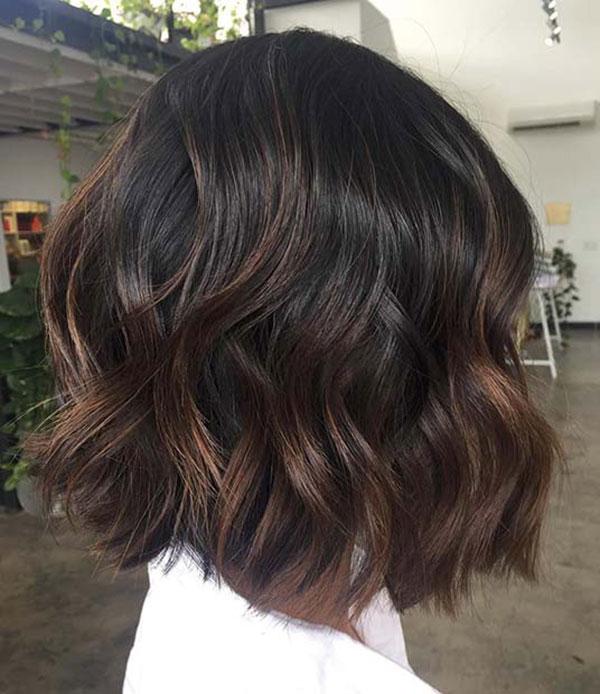 Wavy Brown Medium Hair