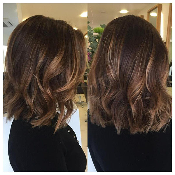 Brown Medium Wavy Hair