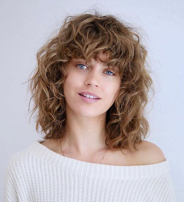 Cute Hairstyles For Bangs And Medium Hair