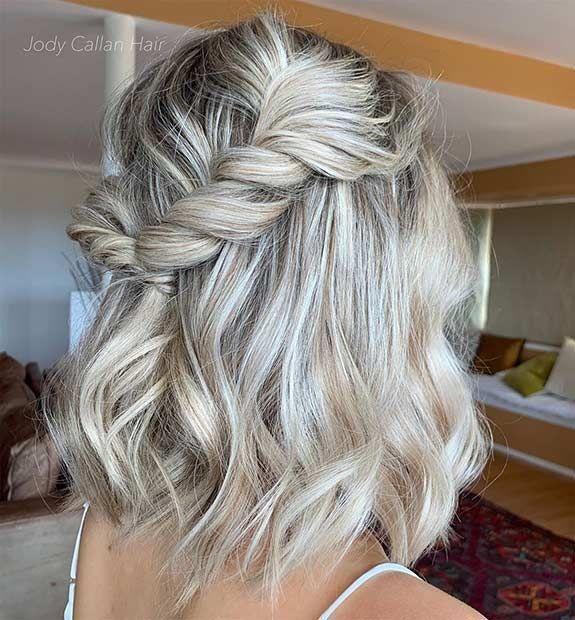 Formal Half Up Hairstyles For Medium Hair