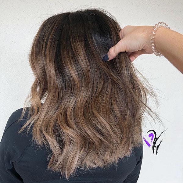 Balayage Medium Brown Hair
