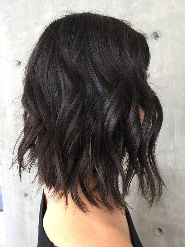 Medium Length Brown Wavy Hair