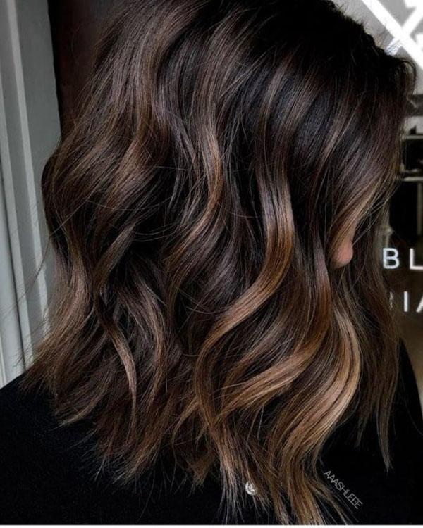 Medium Dark Brown Wavy Hair