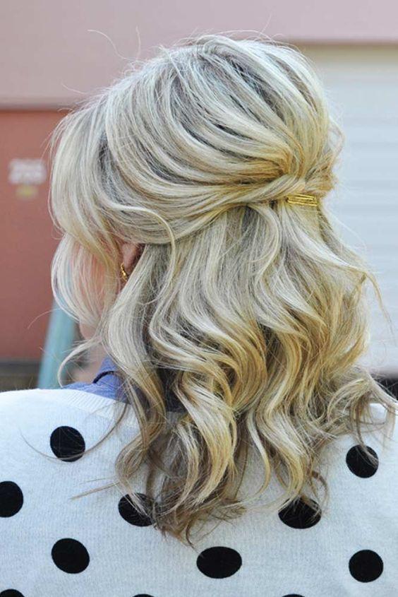 Half Up Medium Hairstyles