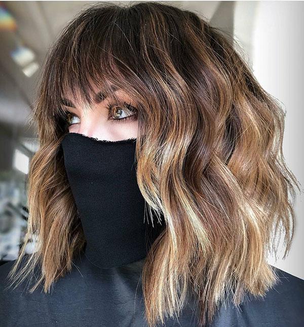 Cute Medium Haircuts With Bangs 2021