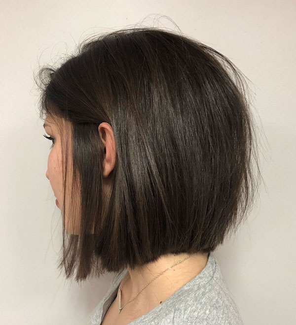 Medium Straight Hairstyles For Thick Hair
