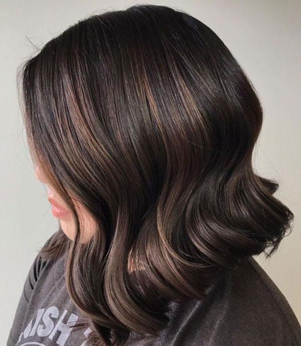 Medium Wavy Brown Hair
