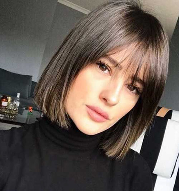 Cute Medium Hairstyles With Bangs
