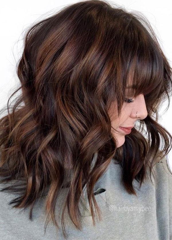 Wavy Medium Brown Hair