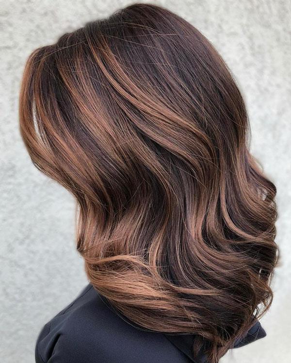 Medium Brown Hair With Balayage
