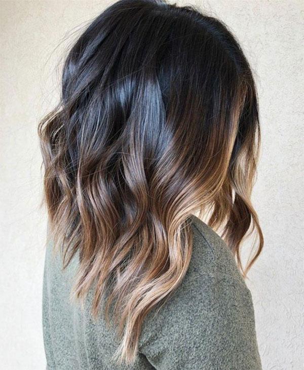 Medium Brown Wavy Hair