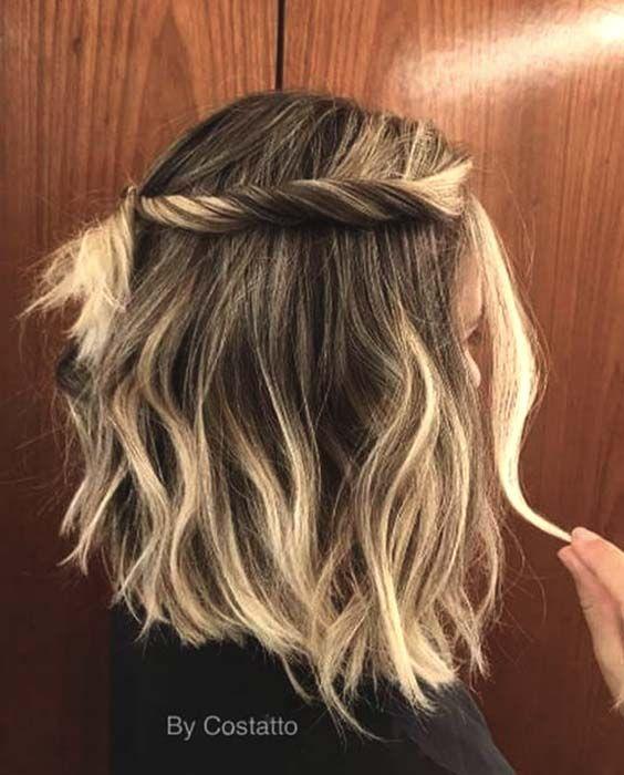Half Up Hairstyles For Medium Length Hair