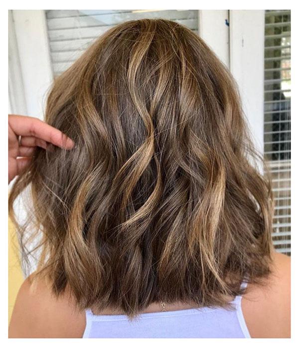 Brown Balayage Medium Haircuts
